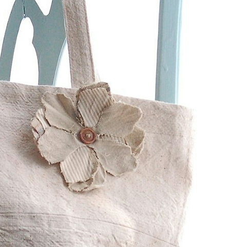 Canvas Tote Bag - Canvas Purse - Canvas Beach Bag
