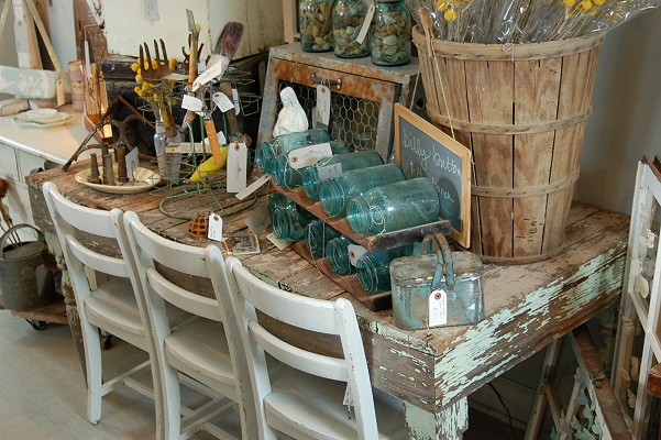 farm table, billy buttons, basket, metal, old windows, vintage windows, - Vintage Junky Furniture & Home Decor 309 Harding Alley Spring Hill